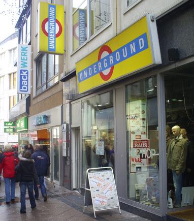 Underground Shop in Essen, Germany