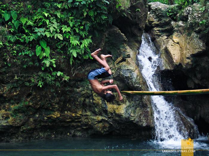 Somersaulting Kids at Dalipuga Falls in Iligan City