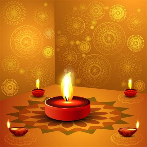 Happy diwali background Free vector in Encapsulated