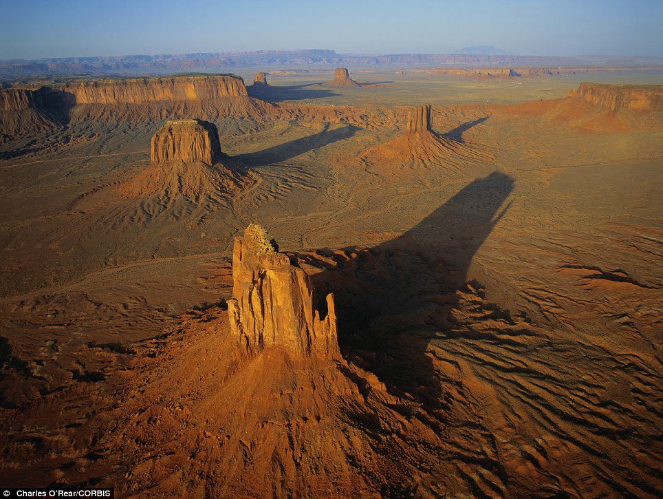 A sunrise over Monument Valley in Utah in the U.S.