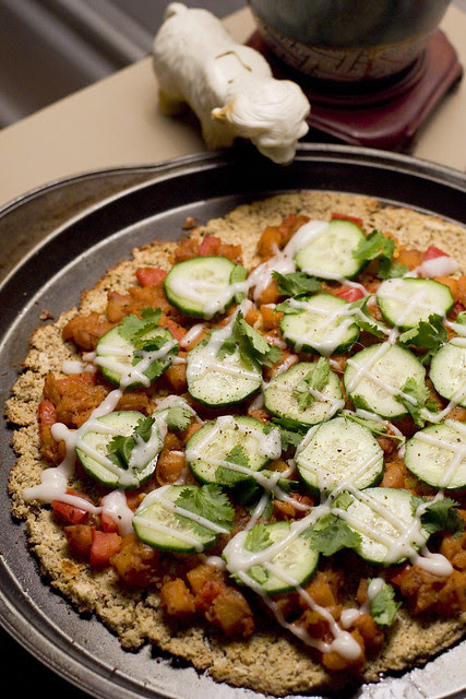 curried squash pizza