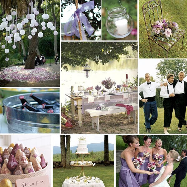 An outdoor wedding brings about an infinite amount of fun ideas