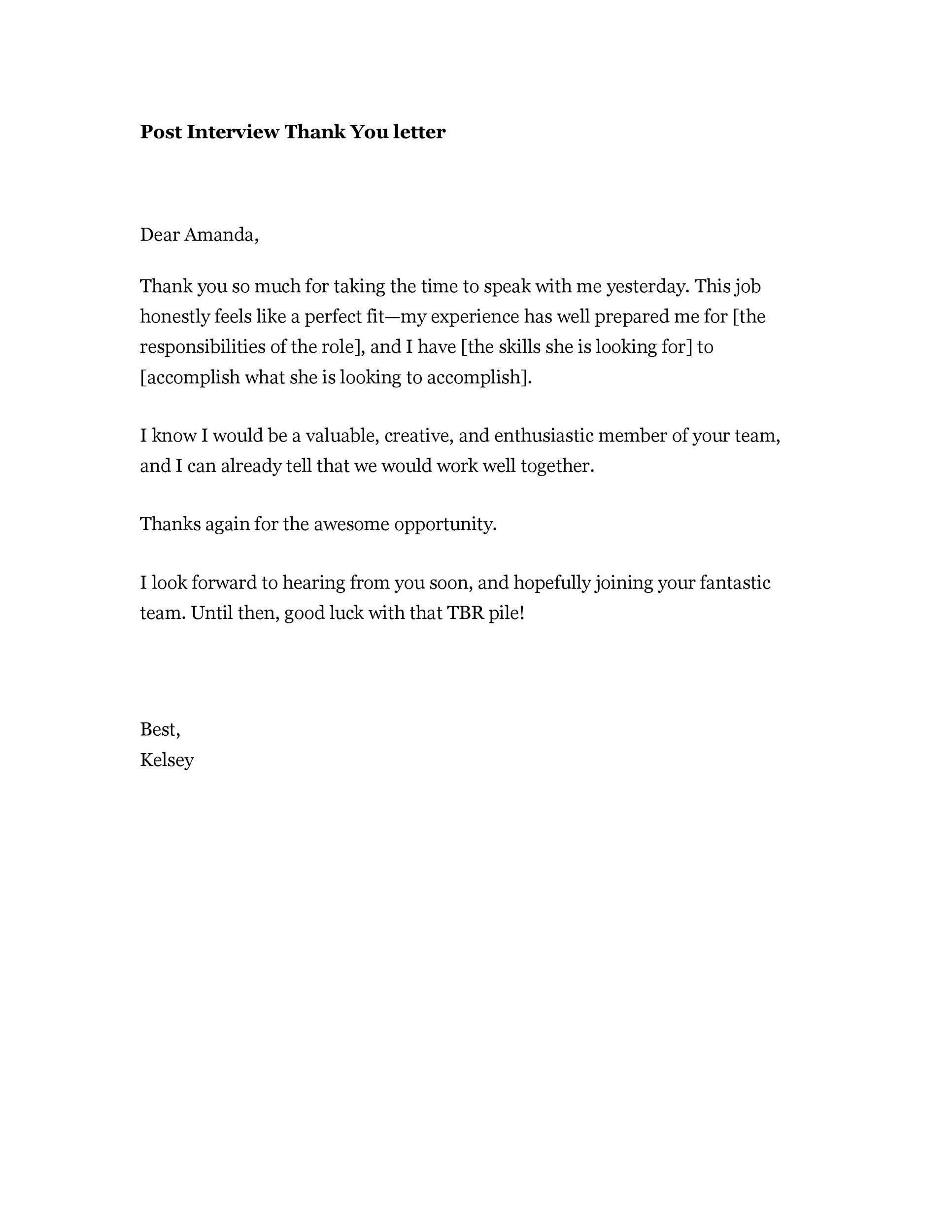 Thank You Letter Template After Interview from lh4.googleusercontent.com