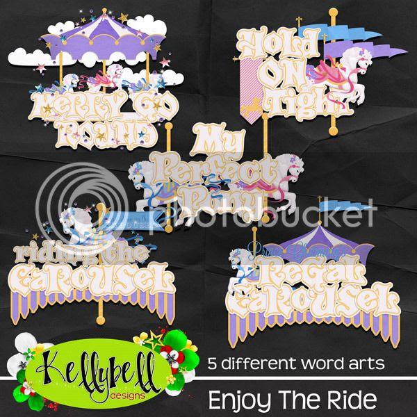 Kellybell Designs Enjoy the Ride Word Art