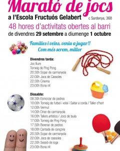 Programa d'activitats de l'escola Fructuós Gelabert, de Barcelona.