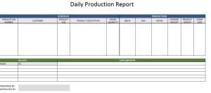 Production Report Template - Free Formats Excel Word