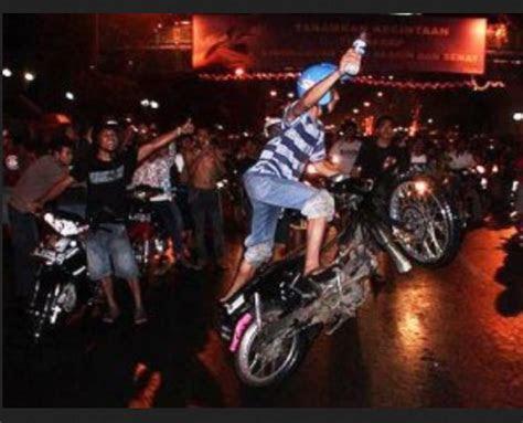tiga anggota geng motor  bandung  dirungkus polisi