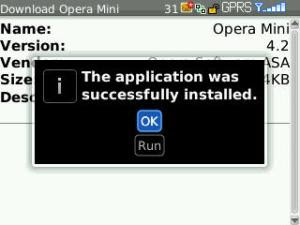 Installation complete and click OK button