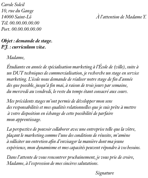 Lettre De Motivation Pour Universite: Exemple De Lettre De Motivation Pour Acceder A Une
