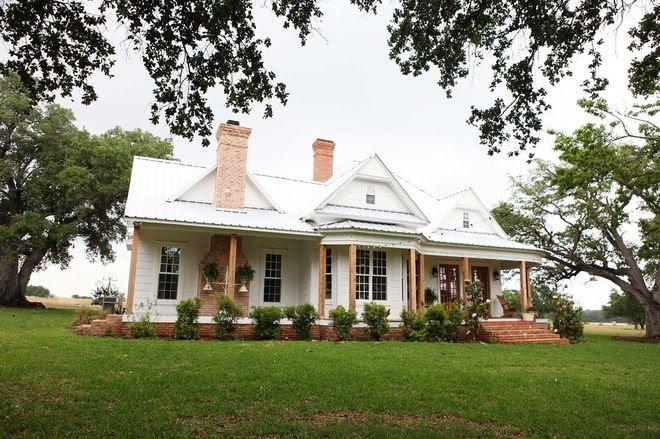 AFTER:  farmhouse exterior Waco Farmhouse
