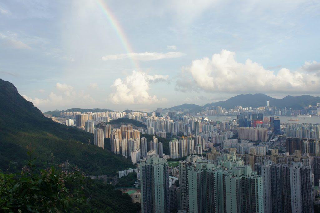途中、虹も見えました。