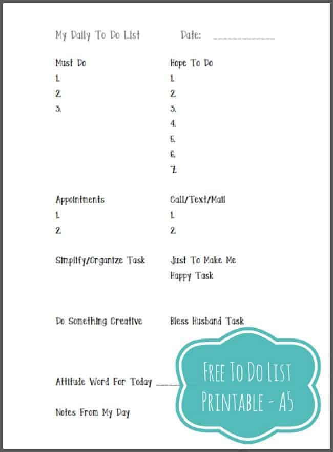 Free Printable To Do List | Intentional Hospitality