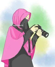 gambar muslimah kartun cantik  belakang gallery