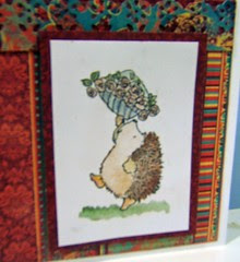 Hedgehog </p><p>I love how these new paints shimmer.. ( doesn't show up well on the photos)</p><p>I saw Card Patterns sketch <a href=