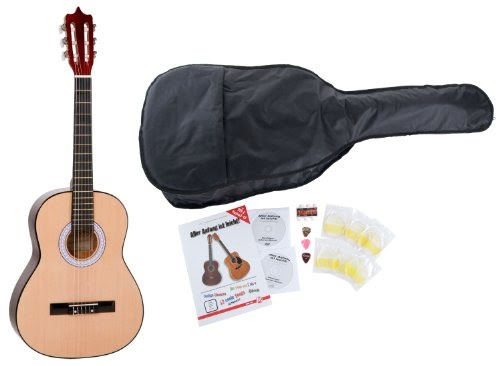 Guitares classiques: Classic Cantabile Guitare de Concert Starter Set accessoires en 5 pièces