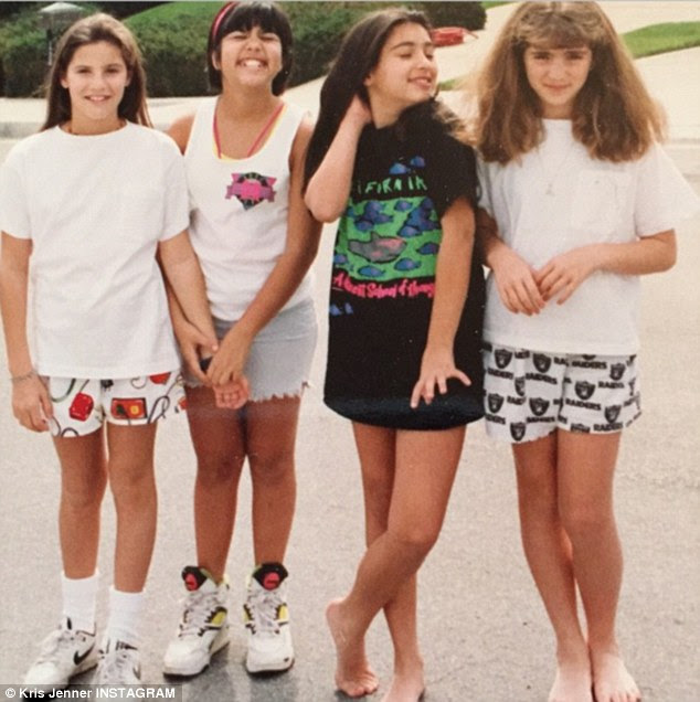 Flashback: Kris Jenner tries to embarrass daughters Kim and Kourtney Kardashian by posting a '90s throwback snap on Friday