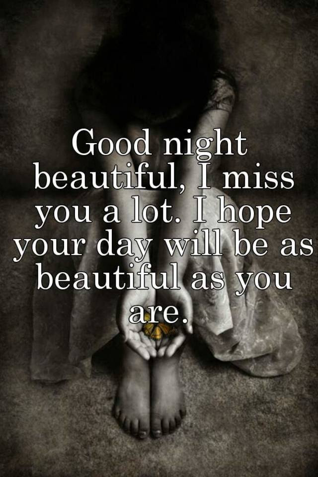 Good Night Beautiful I Miss You A Lot I Hope Your Day Will Be As