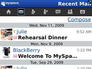 MySpace for BlackBerry Smartphones 2.0