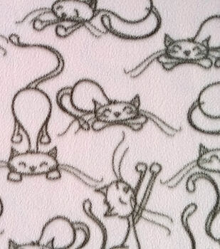Anti-Pill Fleece Fabric Sleepy Cat
