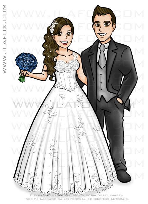 caricatura desenho, caricatura personalizada, caricatura divertida, caricatura sem exageros, caricatura para noivos, caricatura para casamentos, by ila fox