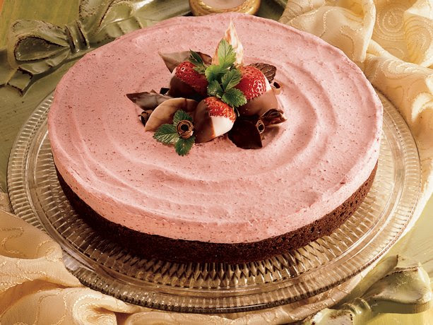 Strawberry Brownie Mousse Torte