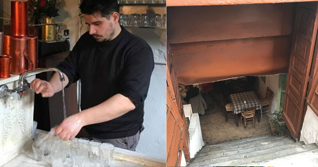 Αποτέλεσμα εικόνας για Η υπόγεια ταβέρνα σε παρατημένο σπίτι στο κέντρο της Αθήνας που αποθεώνεται από όλο τον πλανήτη