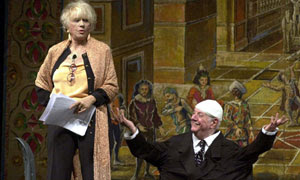 Franca Rame, left, with her husband Dario Fo