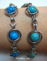 two twice around the world (TAW) wire wrap bracelet