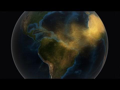 Vídeo   La NASA revela como viaja la arena del Sáhara Occidental cargada de partículas fosfóricas que nutren el Amazonas.