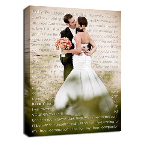Wedding picture with first dance song lyrics. I so want to