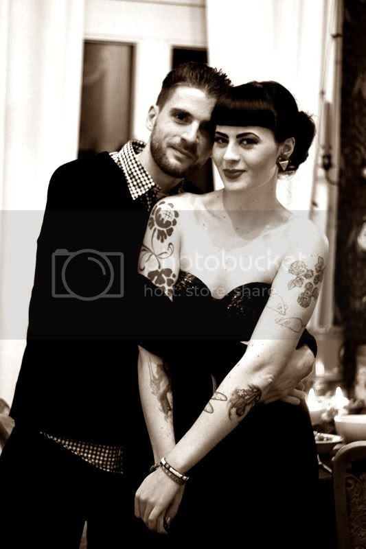 silvester pärchen foto liebe love vintage outfit berlin 50er pin-up tattoos