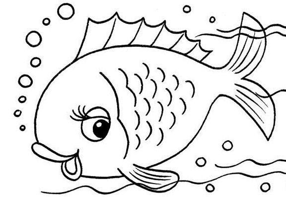 Dibujos Infantiles De Peces Cantineoqueteveo
