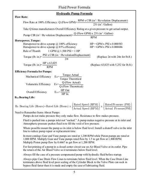 Hydraulic Motor Calculation Formulas - impremedia.net
