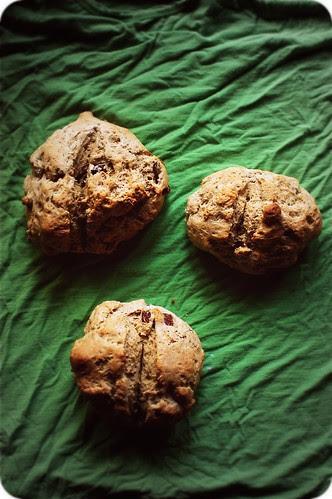 Irish soda bread buns