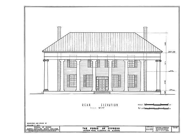 HABS ALA,39-FLO.V,3- (sheet 4 of 6) - Forks of Cypress, Savannah Road (Jackson Road), Florence, Lauderdale County, AL