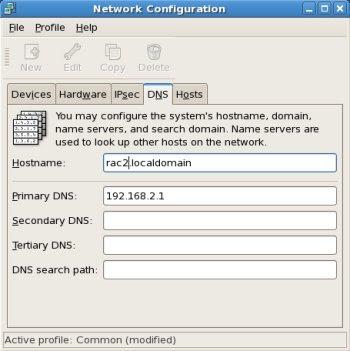 Network Configuration DNS