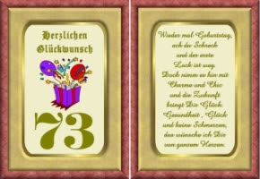 Lustige Geburtstag Wünsche 73 Jahre Kostenlos Ausdrucken