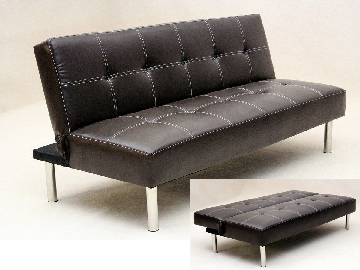 faux_leather_3_seater_sofa_bed_brown_black