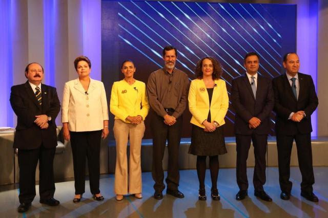Dilma, Marina e Aécio partem para o ataque no debate da Globo Diego Vara/Agencia RBS