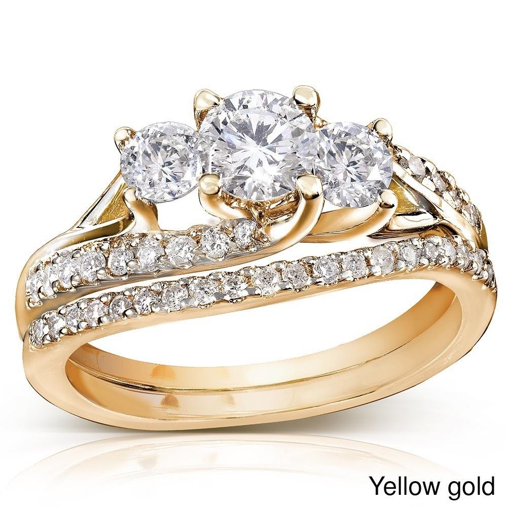 Cheap gold wedding ring sets