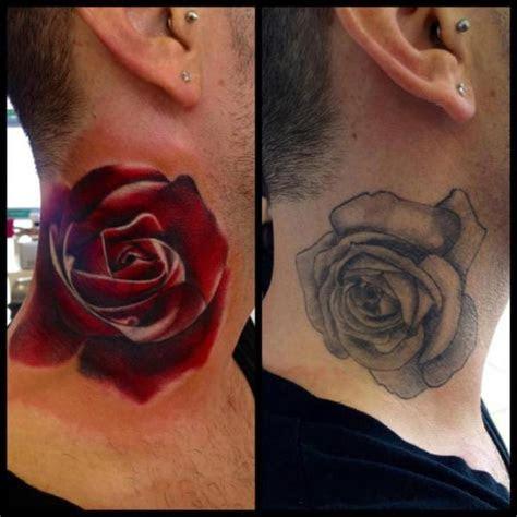 neck rose cover tattoo design tattoo ideas gallery