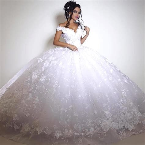 Glamorous Off the shoulder 2017 Wedding Dress Ball Gown