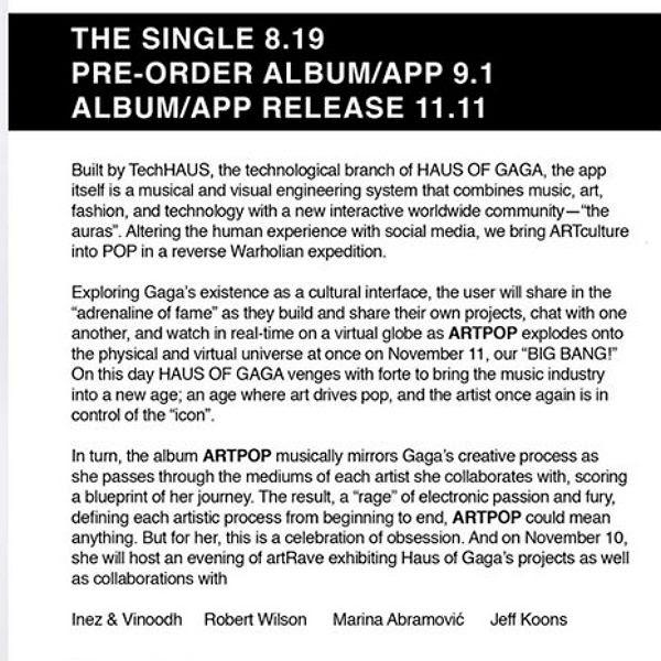 Lady GaGa : ARTPOP (Details) photo GagaFacePOP600.jpg