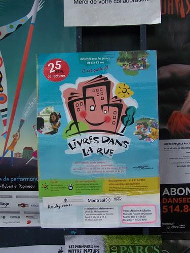Montreal community reading event