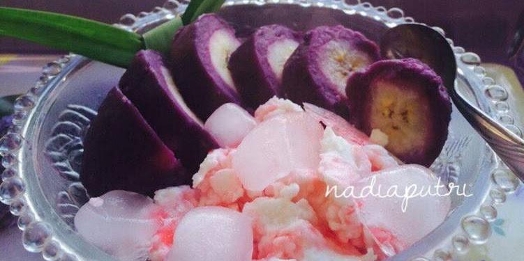 Resep Es Pisang Ungu Oleh Nadia Istighfarini Putri
