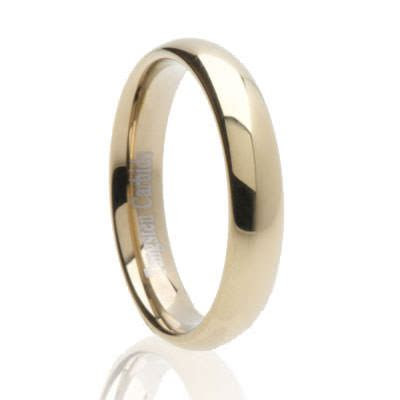 Classic Dome Zirconium Tungsten 4mm   Tungsten Carbide
