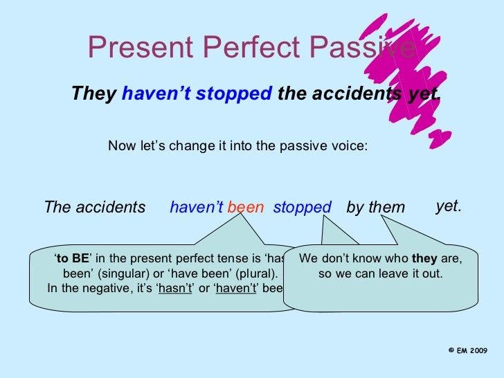 Exercise On Passive Voice Present Perfect Passive Voice