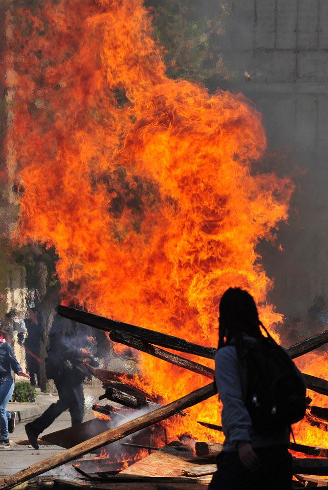 Protesta estudiantil en Santiago de Chile
