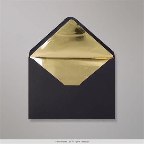 162x229 mm (C5) Black Envelope Lined With Gold Foil
