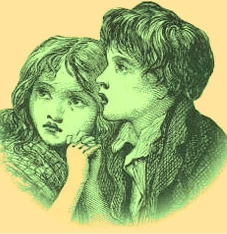 Απεικόνιση του καλλιτέχνη από το Πράσινο Παιδιά του Woolpit